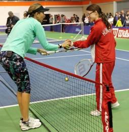 Szeles Mónikával teniszeztek speciális olimpikonjaink