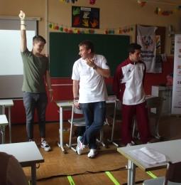 Diáknap speciális olimpikonokkal a Budai Középiskolában